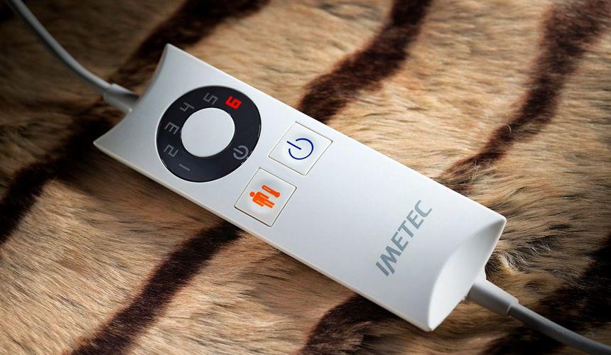 Il telecomando offre ben 6 livelli di calore, incluso il riscaldamento rapido