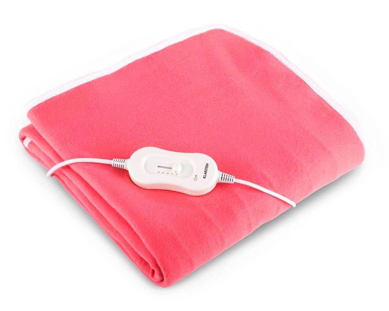 Coperta termica riscaldante per divano o letto singolo KLARSTEIN Winter Dreams 60 Watt da 150 x 80 cm rosa