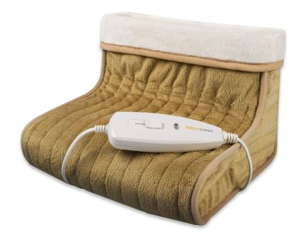 Scaldapiedi elettrico da letto a riscaldamento rapido MEDISANA FWS 60257 in morbido pile traspirante