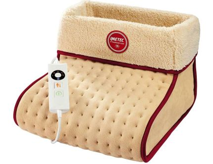 Scaldapiedi elettrico da letto a riscaldamento rapido IMETEC Intellisense FW 01 in morbida microfibra
