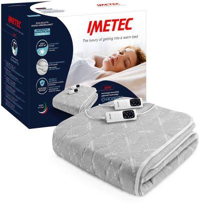 Scaldasonno Imetec Adapto, scaldaletto elettrico matrimoniale in tessuto trapuntato, 6 temperature regolabili e timer