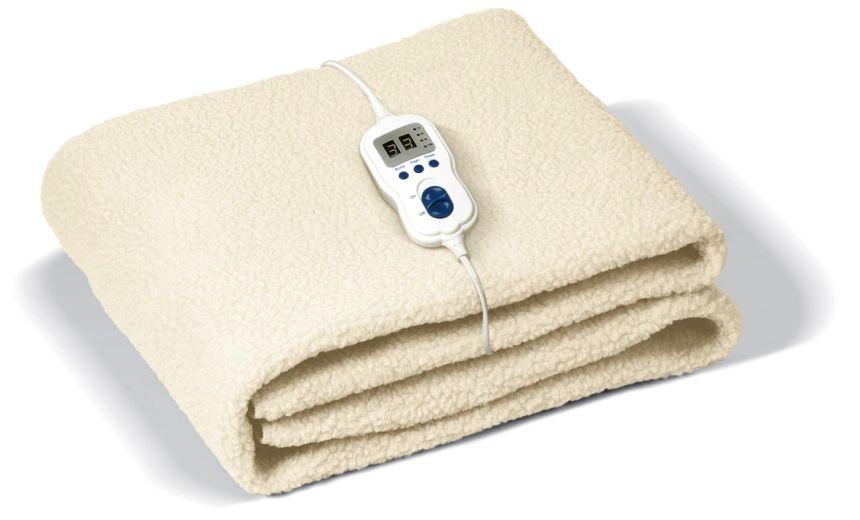 Scaldaletto elettrico per letto singolo Johnson Relax in lana sintetica, con zona piedi regolabile indipendentemente e timer
