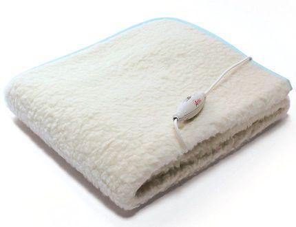 Scaldaletto elettrico matrimoniale o singolo Ardes Medicura Morpheo in pura lana