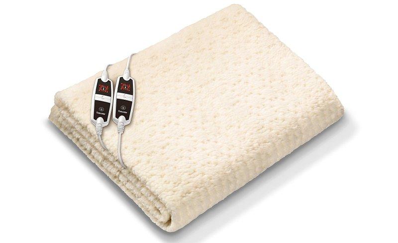 Scaldaletto elettrico matrimoniale Beurer UB 56 in tessuto peluche e pile lavabile sia a mano che in lavatrice