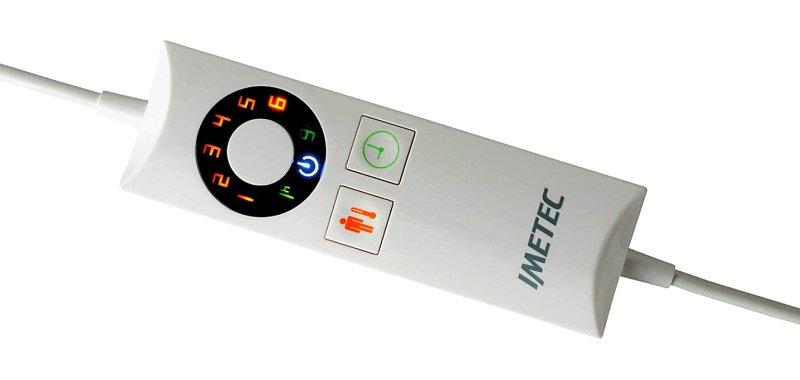 Con il telecomando impostate ben 6 livelli di calore oltre che al timer per lo spegnimento automatico