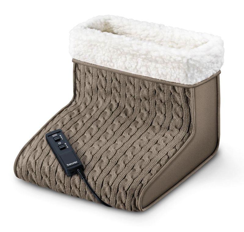 Scaldapiedi elettrico con massaggio plantare BEURER FWM 45 in morbidissimo peluche, per tenere i vostri piedi al caldo in maniera elegante, semplice e sicura