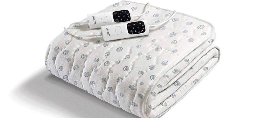 Scaldasonno Imetec Adapto, scaldaletto elettrico matrimoniale in caldo cotone italiano, 6 temperature regolabili e timer