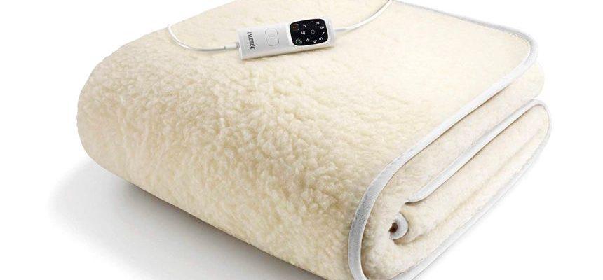 Scaldasonno Imetec Adapto, scaldaletto elettrico singolo in calda lana e merino, 6 temperature regolabili e timer