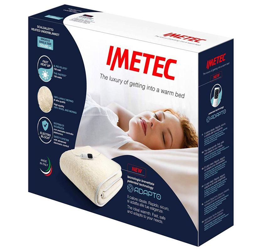 La tecnologia brevettata dello Scaldaletto Adapto di Imetec garantisce performance elevate in termini di rapidità di riscaldamento, personalizzazione, comfort e soprattutto sicurezza