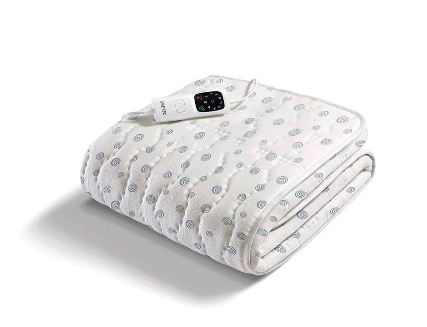 Scaldasonno Imetec Adapto, scaldaletto elettrico singolo in caldo cotone italiano, 6 temperature regolabili e timer