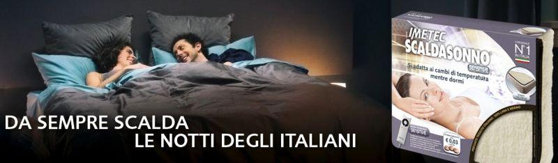 Imetec Scaldasonno Express Matrimoniale, Tessuto 100% Lana e Merino, 3 Temperature, Risparmio Energetico, Lavabile a Mano, Electro Block di Sicurezza, Made in Italy