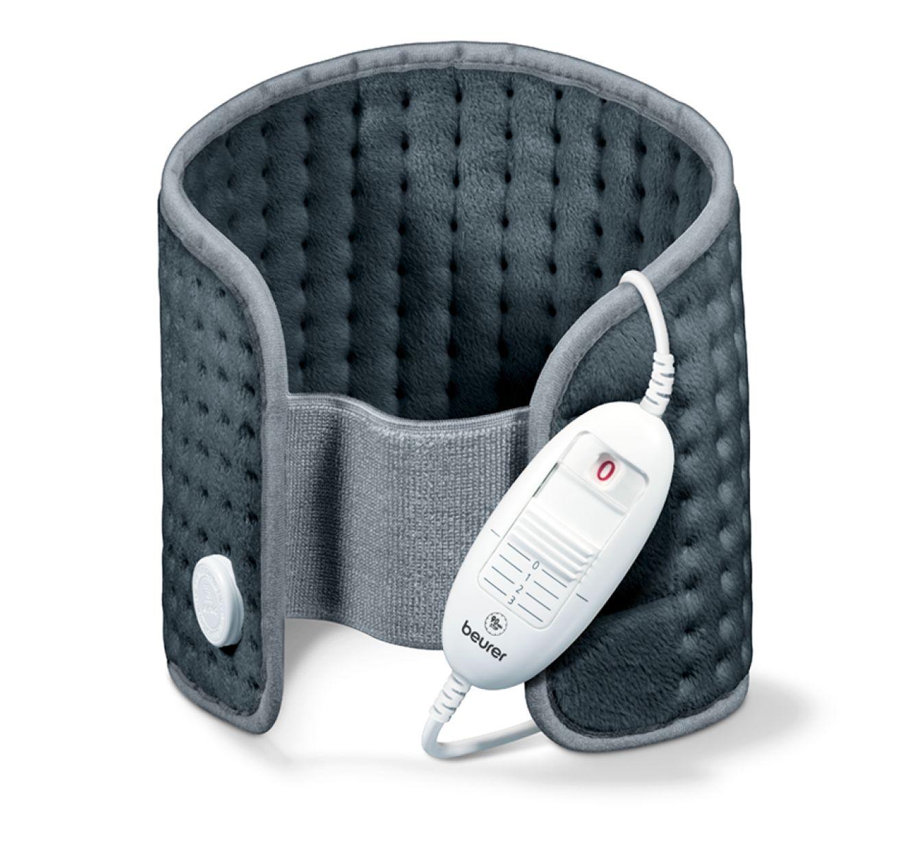 Termoforo elettrico per addome e schiena BEURER HK 49 COSY in micropile traspirante per scaldare e rilassare la muscolatura, colore grigio