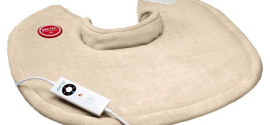 Termoforo elettrico per cervicale e spalle IMETEC Intellisense CHP-03 in microfibra traspirante per scaldare e rilassare la muscolatura
