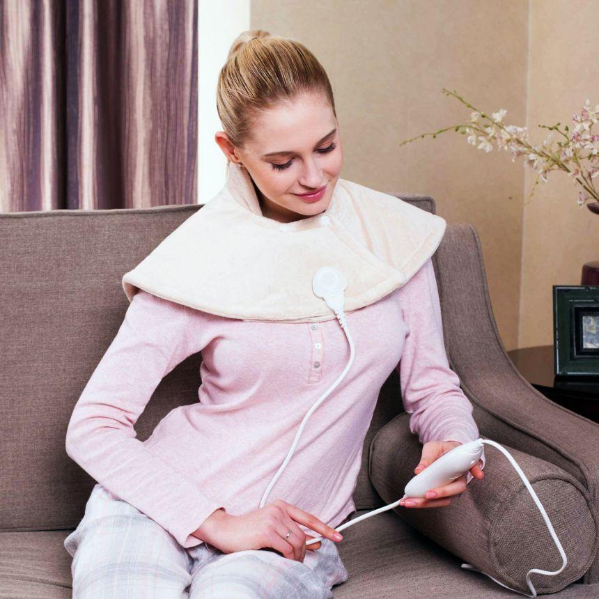 Il termoforo elettrico MVPOWER in morbida flanella, è il rimedio ideale per rilassare i muscoli e alleviare i dolori cervicali