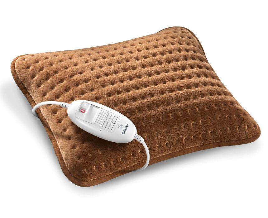 Termoforo elettrico per divano BEURER HK 48 COSY, cuscino termico per scaldare e rilassare collo e schiena in morbido micropile traspirante