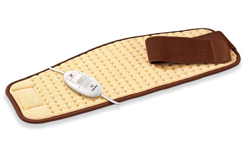 Il termoforo elettrico per schiena e addome BEURER HK 49 COSY misura 69 x 28 centimetri, e grazie all'ampia banda a strappo, può avvolgere senza problemi anche addomi importanti