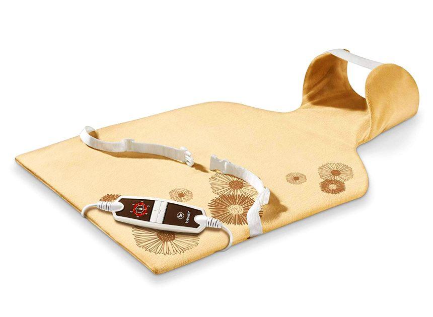 Termoforo elettrico per schiena e cervicale BEURER HK 58 COSY in micropile traspirante per scaldare e rilassare la muscolatura