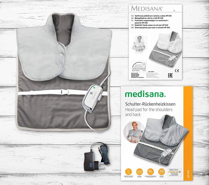 Semplice ed efficace: il termoforo elettrico per schiena e spalle MEDISANA HP 630, così come vi arriverà a casa